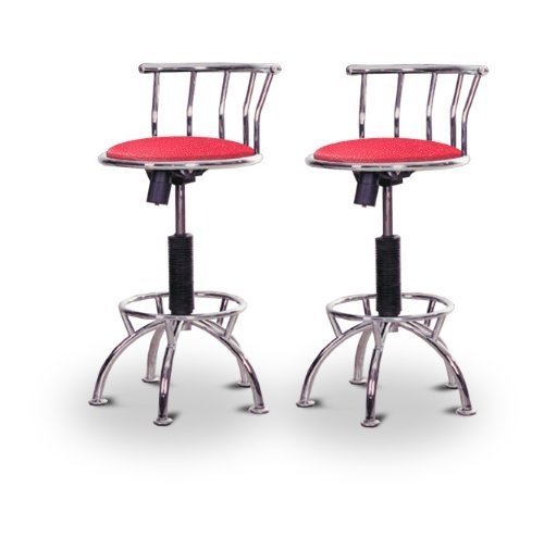 "2 24""-29"" Glitter Pink Seat Chrome Adjustable Specialty / Custom Barstools Set by The Furniture Cove, $200"