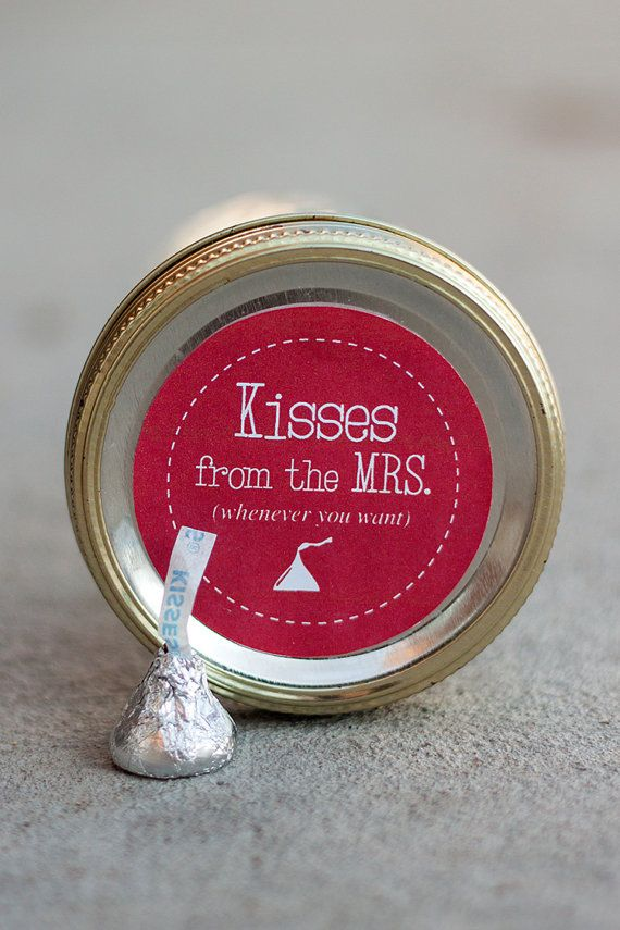 Printable mason jar label PDF - Valentine