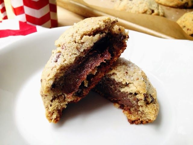 Nutella-Stuffed Sea Salt Chocolate Chip Cookies (stuff with sunbutter ...