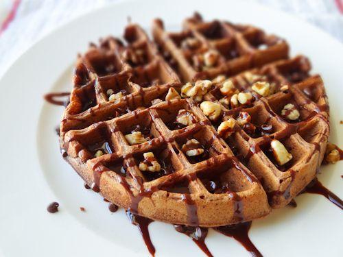 Buttermilk Chocolate Waffles | B R E A K F A S T | Pinterest