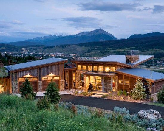 Modern Mountain Architecture Home Design Ideas Pinterest