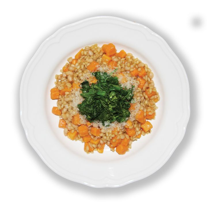 ... Sweet Potato Barley Risotto with Sautéed Broccoli Rabe - perfect for