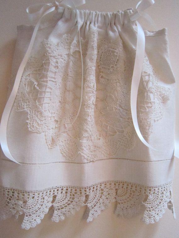 Pillowcase dress using lace.