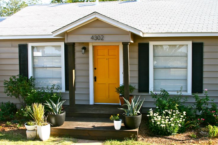 Landscaping Ideas By Front Door : Yellow front doors google search landscaping ideas