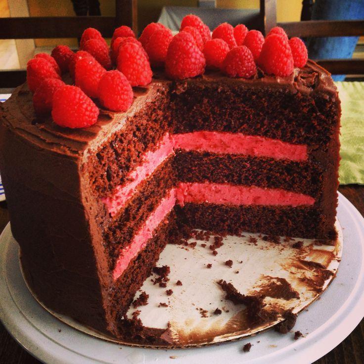 Chocolate Raspberry Cake | ~Sweet - Cakes~ | Pinterest
