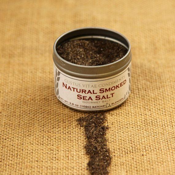 Natural Smoked Sea Salt Gourmet Sea Salt by GustusVitae on Etsy, $10 ...
