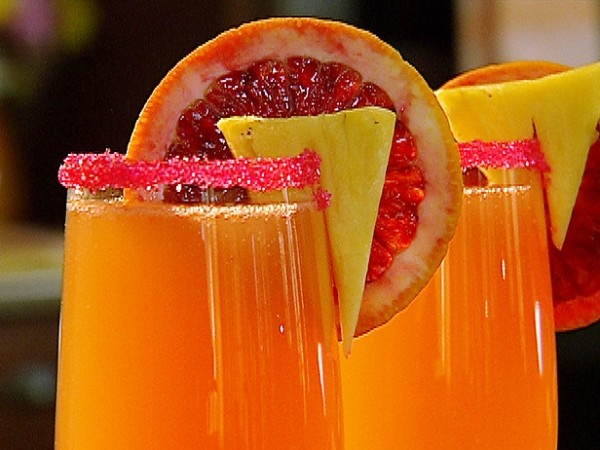 Morning Glory Mimosas - Sparkling wine, Pineapple Vodka and Orange ...