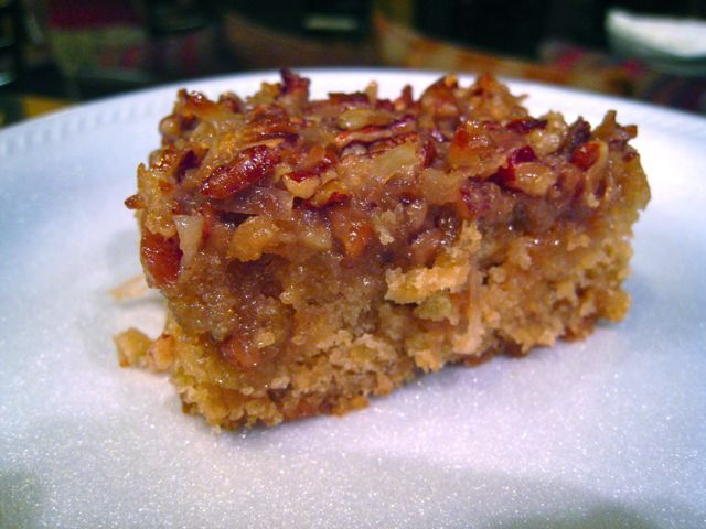 Spirals & Spatulas: Oatmeal Cake with Coconut Pecan Frosting
