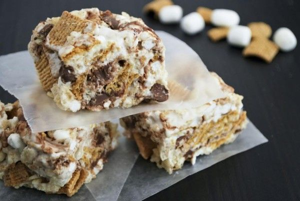 mores #Rice #Krispy #Treats | Things To Eat/Drink | Pinterest