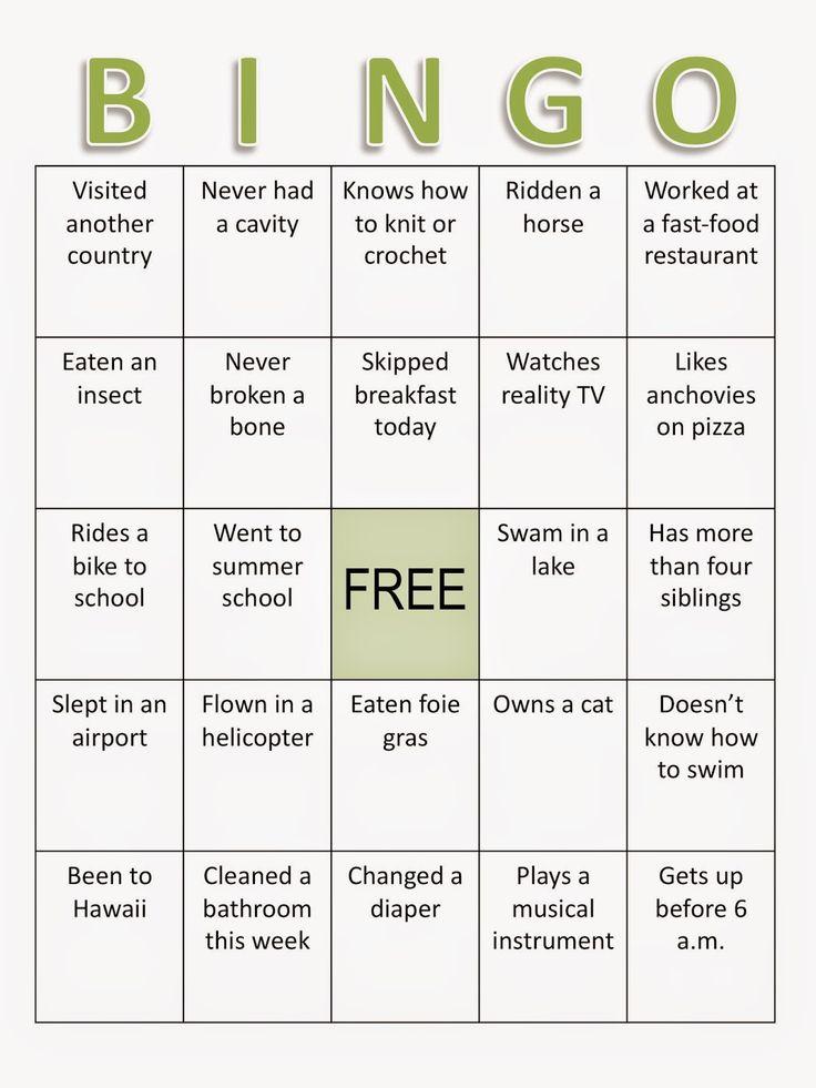 bingo game people bingo ice breaker ice breaker bingo template human