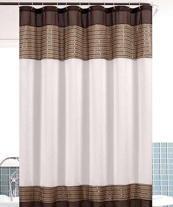Taupe Sequin Bahamas Shower Curtain