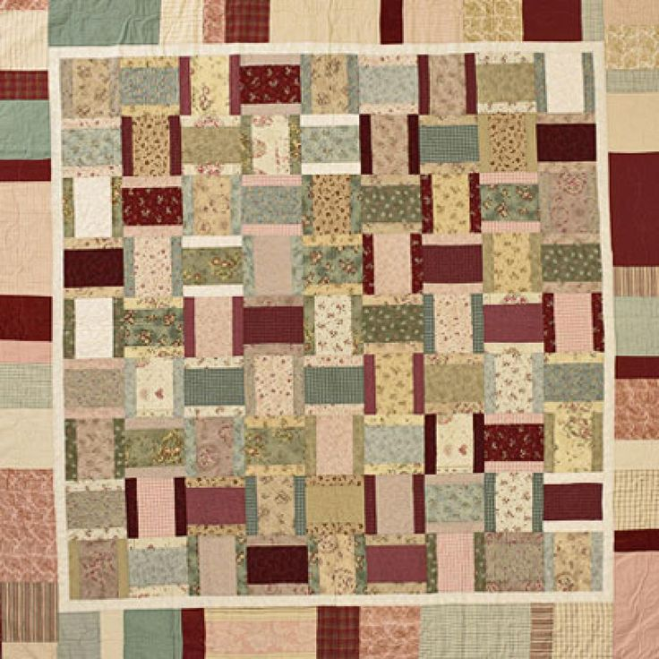 Scrappy Rectangles, free instructions Quilts Pinterest