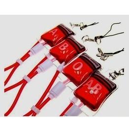blood bag phone charm keychains