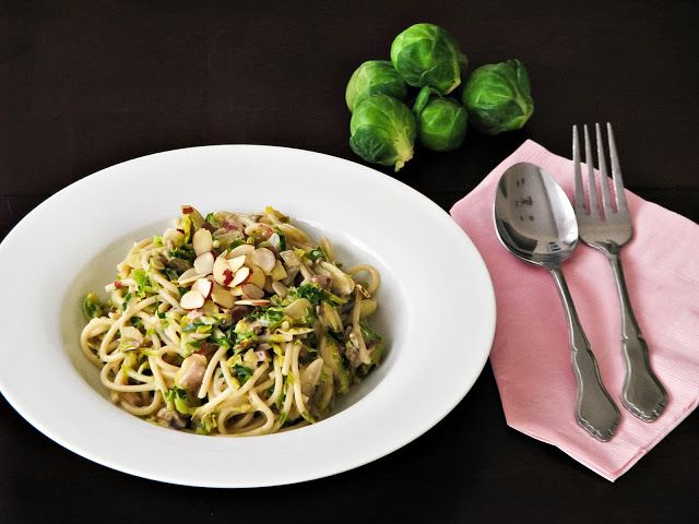 ... old pasta sauce, try this delicious and creamy brussel sprouts pasta