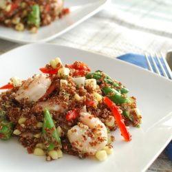 Perfect for Spring; Quinoa Salad with Shrimp, Asparagus, Fresh Corn ...