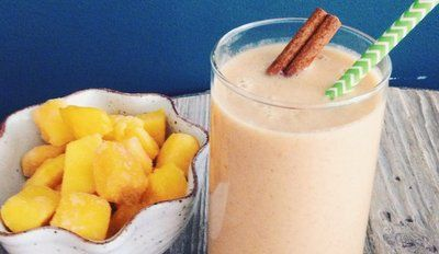 You'll Love This Energizing Ginger Mango Chai Smoothie