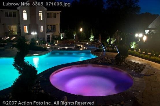 Luxury Backyard Swimming Pools : luxury backyard swimming pool  LUXURY PLUNGE  Pinterest