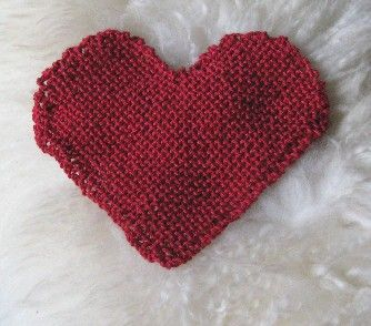 Heart Shaped Knitting Pattern : heart shaped washcloth Knitting Pinterest