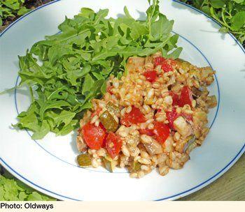 Mediterranean Eggplant And Barley Salad | Oldways - lemon-garlic ...
