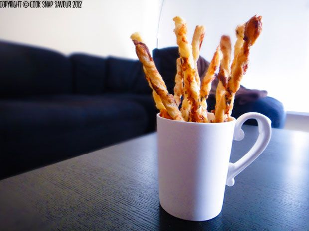 Garlicky Herb and Cheese Straws Recipe - RecipeChart.com