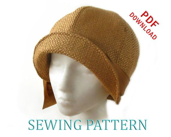 ... SEWING PATTERN Lucille This beautiful 1920s style cloche hat is now an