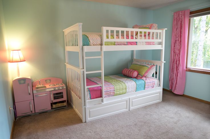 Teen bedroom paint designs - My Girls Room Paint Sherwin Williams Quot Swimming Quot Bunkbeds W Drawers