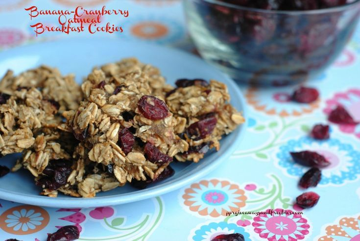 Banana Cranberry Oatmeal Breakfast Cookies | ♥ breakfast: the most ...