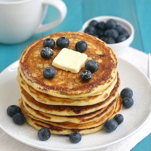 Tracey's Culinary Adventures: Blueberry Cornmeal Pancakes