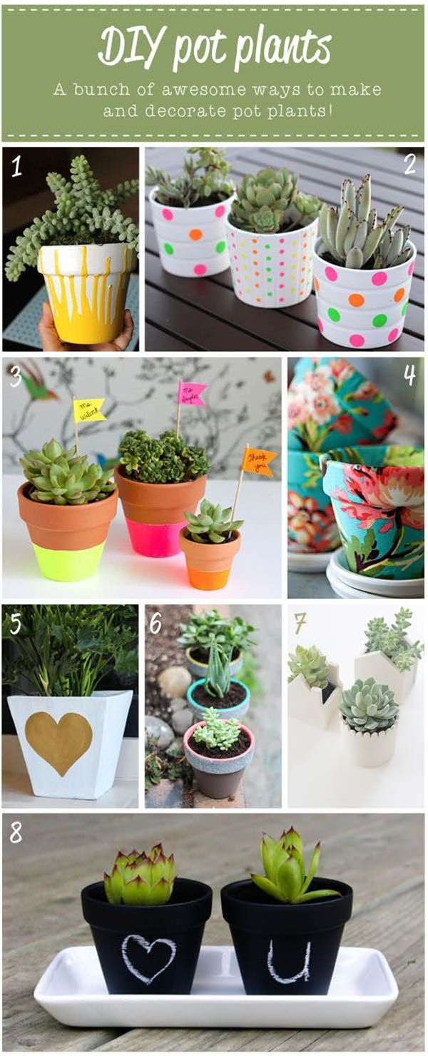Pot plant diy ideas favorite places spaces pinterest for Planting flowers in pots ideas
