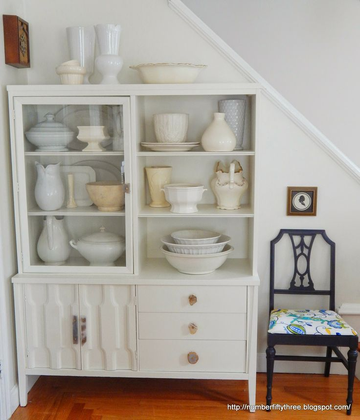Number Fifty-Three: Vintage Modern Painted Hutch {& AT Feature)