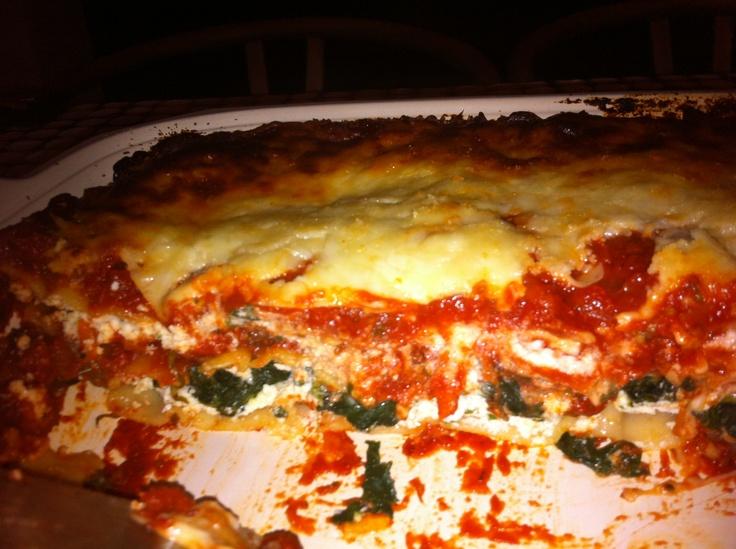 Turkey Sausage & Spinach Lasagna | Food Porn | Pinterest