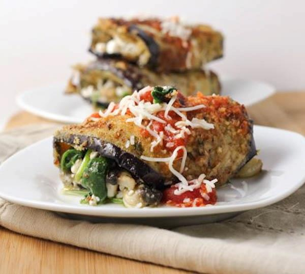 Eggplant Rollatini with Spinach. A favorite! Eggplant Rollatini ...