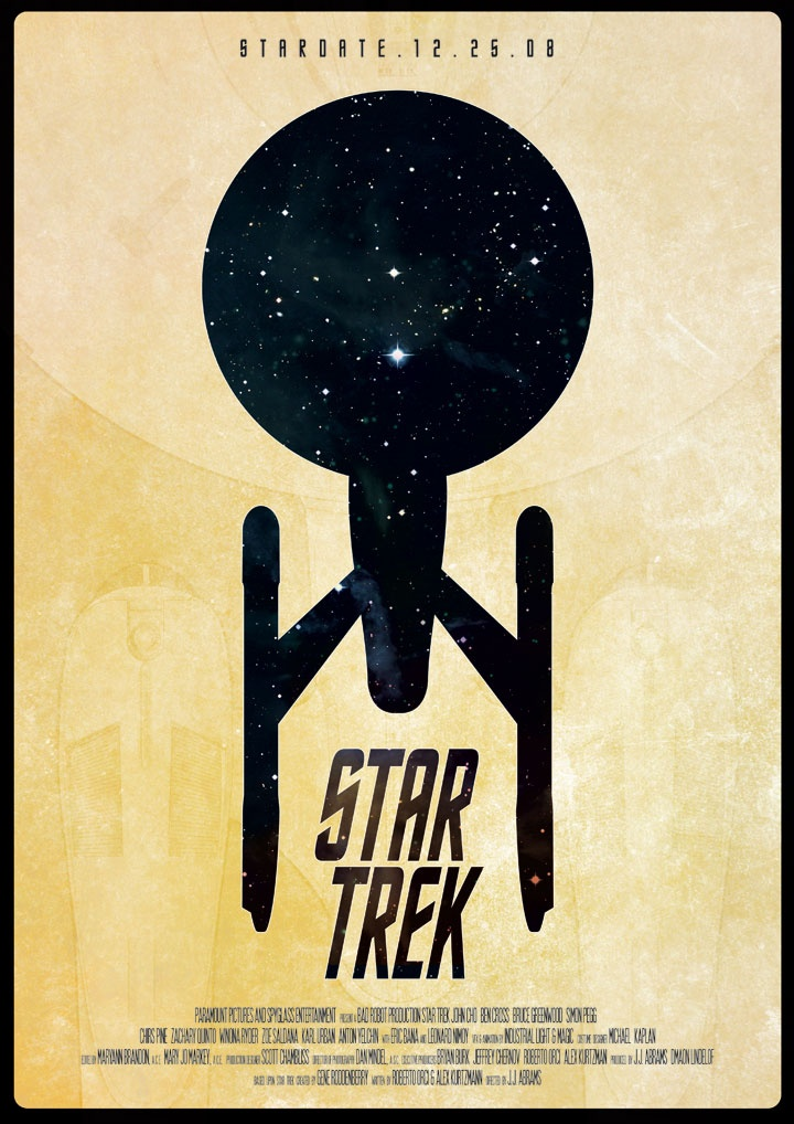 Star trek minimalist movie poster minimalist movie for Going minimalist