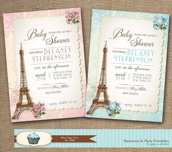 paris baby shower invitations shabby chic baby by bluesugarpress 15