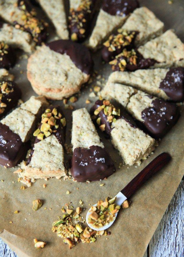 Pistachio-Chocolate Shortbread Cookie Recipe — Dishmaps