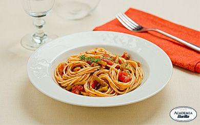 Barilla® PLUS® Spaghetti with Green Beans & Tomatoes