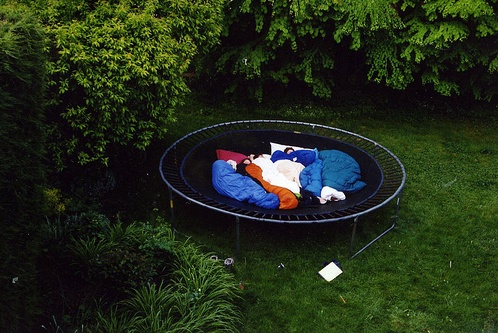 Camping trampoline