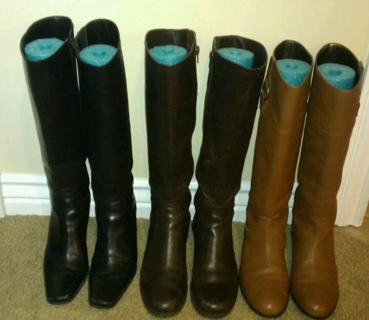DIY Boot stand / Boot Saver $1 store pool noodle