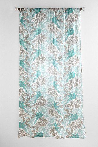 Bird Flourish Curtain | Future home stuff | Pinterest