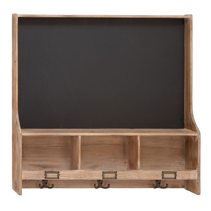 Chalkboard W/Shelf and Hooks.
