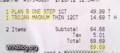 receipt pricing win