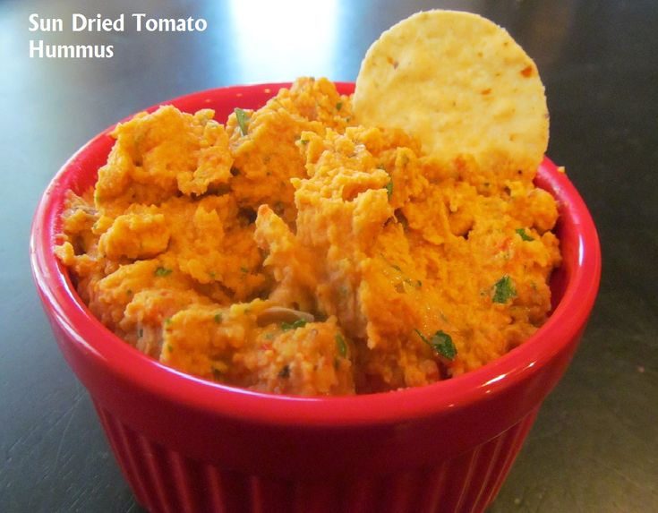Sun Dried Tomato Hummus | Verduras | Pinterest