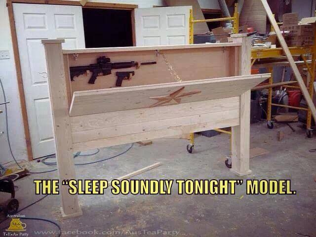 Headboard gun cabinet for the home pinterest for Bedroom furniture gun safe