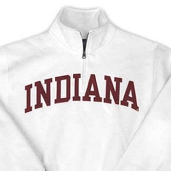 Jansport® Indiana Comfort Twill 1/4 Zip Pullover - White
