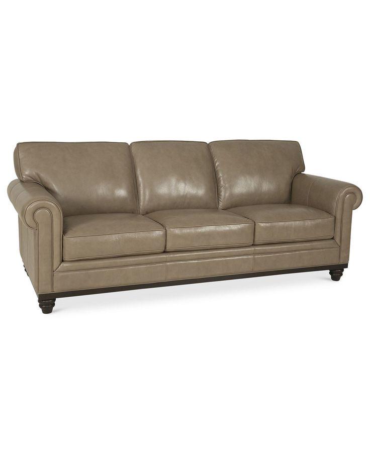 Martha stewart collection bradyn leather sofa for Martha stewart furniture