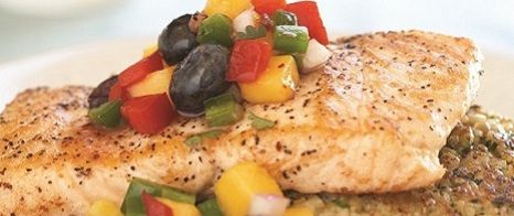 Salmon with Blueberry Mango Salsa | Canyon Ranch - avacodo instead of ...