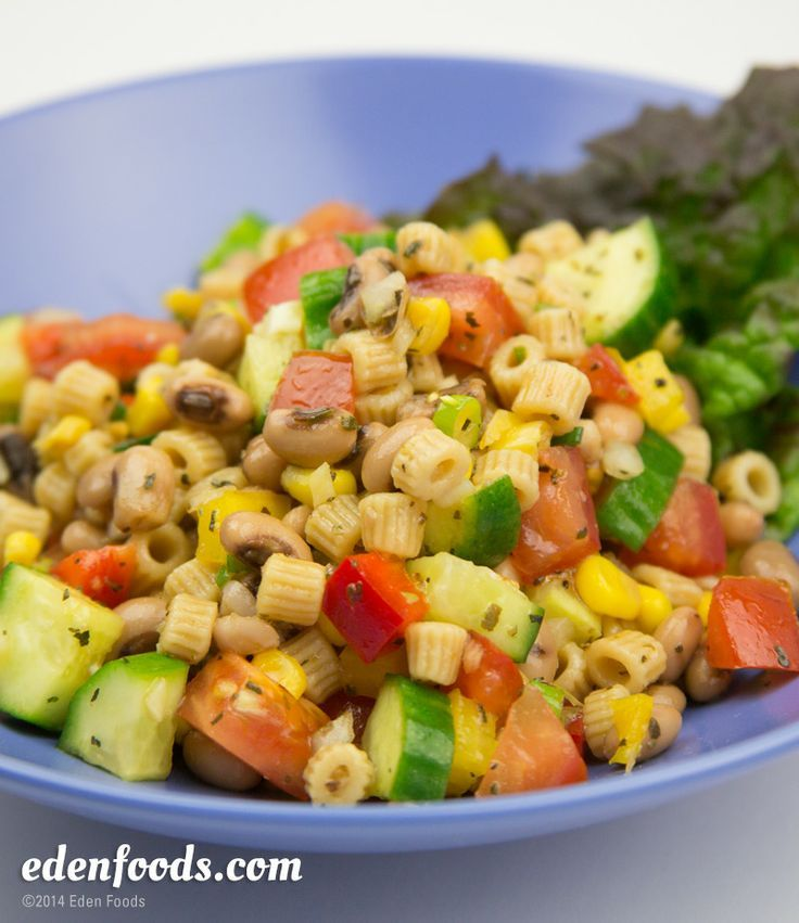 Black Eyed Pea & Ditalini Pasta Salad #recipe The whole recipe is at ...