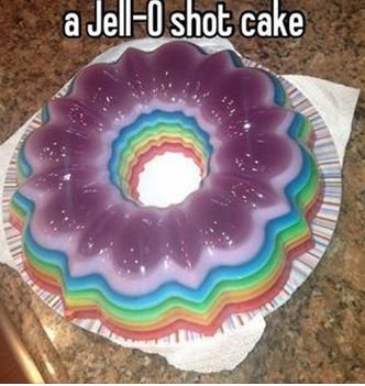 Double Rainbow Cake Jelly Shot Recipes — Dishmaps