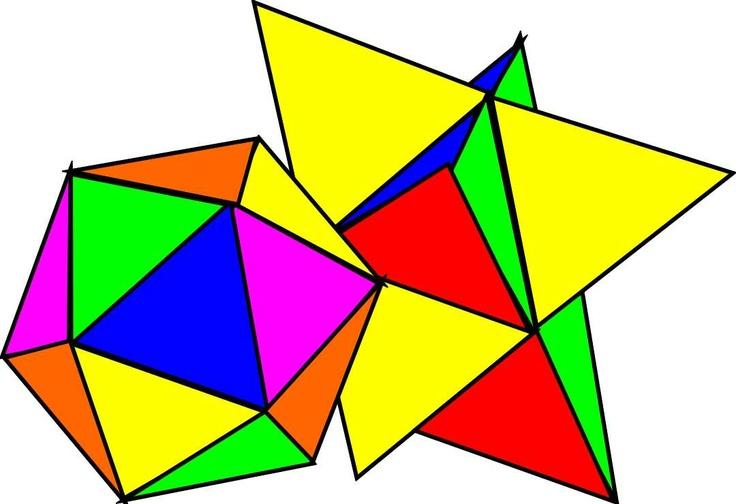 Icosahedron and Stellated Icosahedron