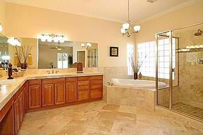 Master bath with l shaped counters master bathroom for L shaped bathroom designs